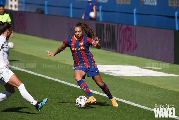 Martens durante el partido contra el Logroño. | Foto: Noelia Déniz (VAVEL)