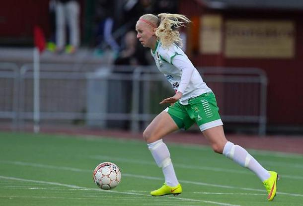 Lindberg played 22 games for Hammarby in the Damallsvenskan last season. | Photo: Göteborgs-Posten