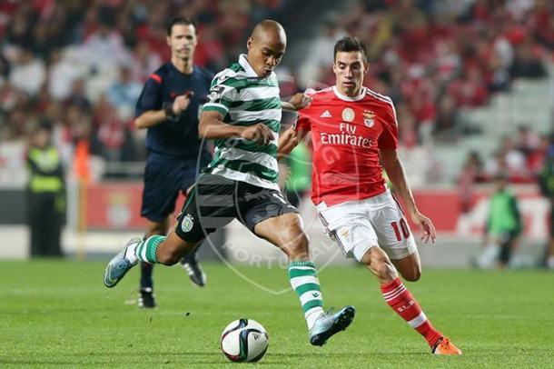 O Sporting venceu por 0-3, na Luz. | Photo: bolanarede.pt
