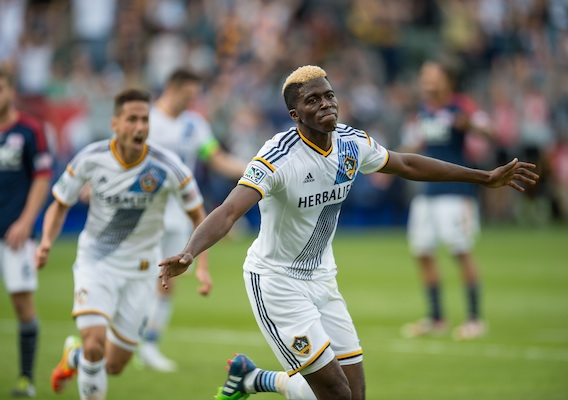 The LA Galaxy will need Gyasi Zardes (Center) to continue to step up on Saturday against RSL. Photo provided by ISI Photo.