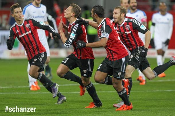Bauer celebrates his stunning strike. (Image credit: FC Ingolstadt 04)