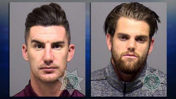 Ridgewell and Gleeson were booked on Monday night in Portland | Source: kptv.com
