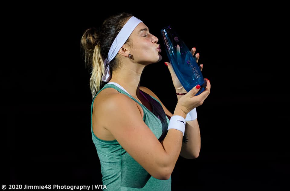 Sabalenka captured her first of two titles in 2020 at the J&T Banka Ostrava Open. Photo: Jimmie48 Photography