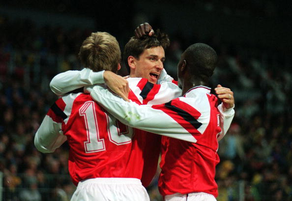 Alan Smith's Cup Winners Cup final goal remains Arsenal's sole European trophy (photo:getty)