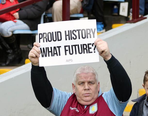 "A ""toxic atmosphere"" at Villa Park during the game. Photo: Getty Images"