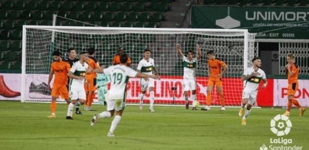 El equipo celebrando un gol | Foto: LaLiga Santander