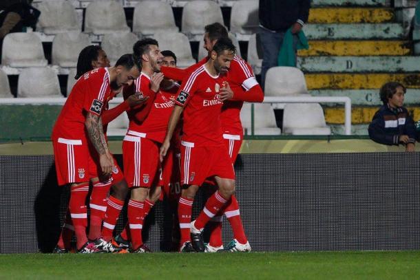 O Benfica é o melhor ataque do campeonato, com 78 golos marcados // Foto: Facebook do SL Benfica