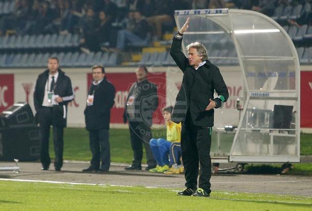 Jorge Jesus fez grandes alterações no onze titular (Foto: César Santos - Sporting Clube de Portugal)