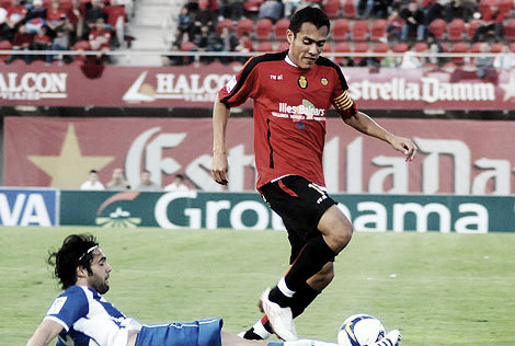 Arango como capitán del RCD Mallorca / Foto: Alberto Vera