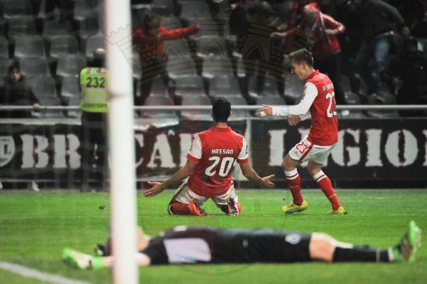 Hassan inaugurou o marcador // Foto: Facebook do SC Braga