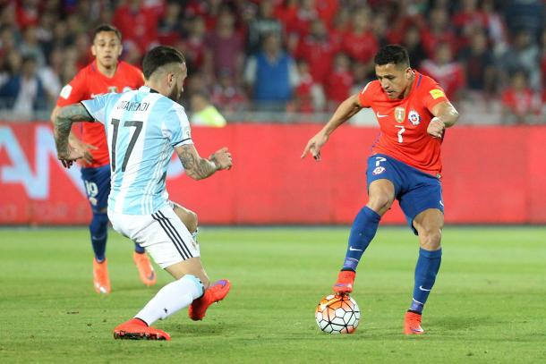Alexis Sanchez and Chile couldn't find the equalizer Thursday night (Photo: ANFP Chile).