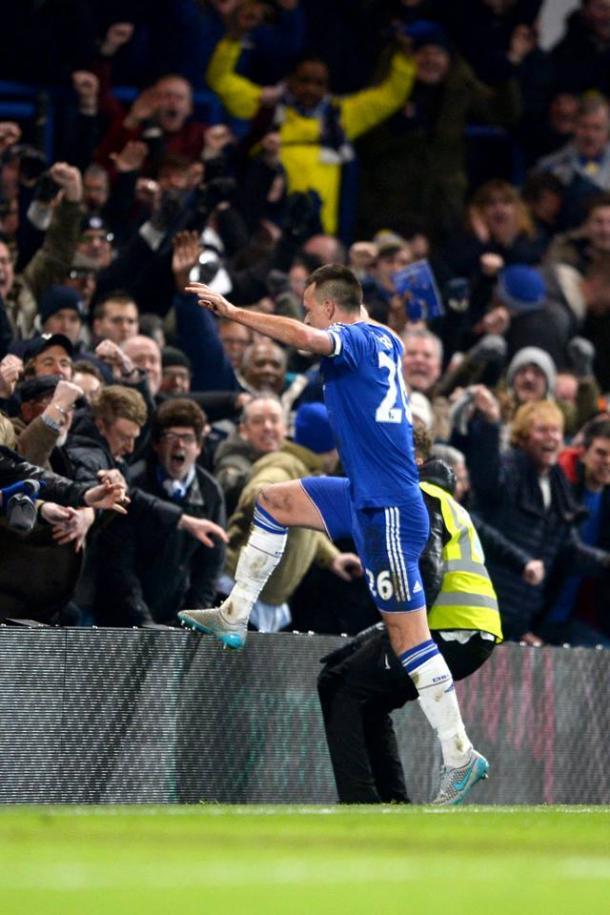 Terry celebra el 3-3 ante el Everton, gol marcado en el minuto 97 | Foto: Chelsea