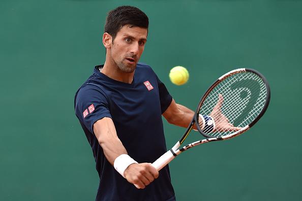 Novak Djokovic in practice as he warms up for Monte-Carlo (Photo:Valerio Pennicino)