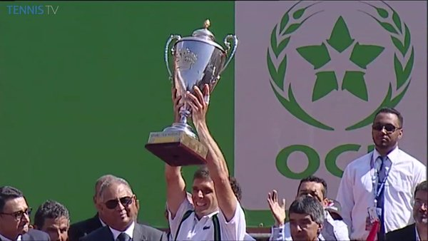Federico holds the Marrakech title (Photo:Tennis TV)