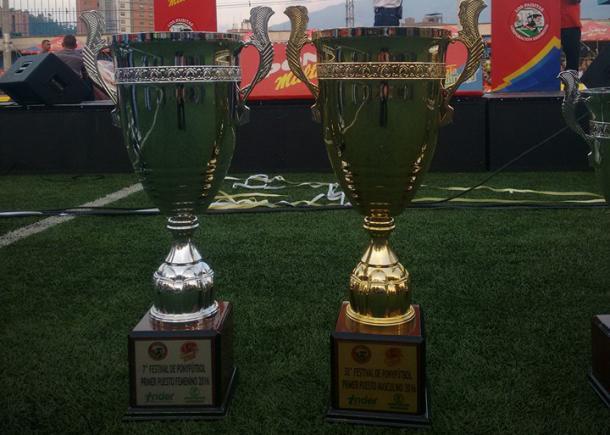 Trofeos de los campeones de la sexta edición del festival de Festivales. Foto: Los Paisitas