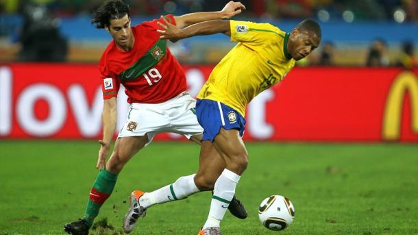 Baptista contra Portugal en el Mundial de Sudáfrica en 2010   Foto: FIFA
