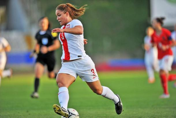 Silvana Chojnowski in action for Poland. (Photo: laczynaspilka.pl)