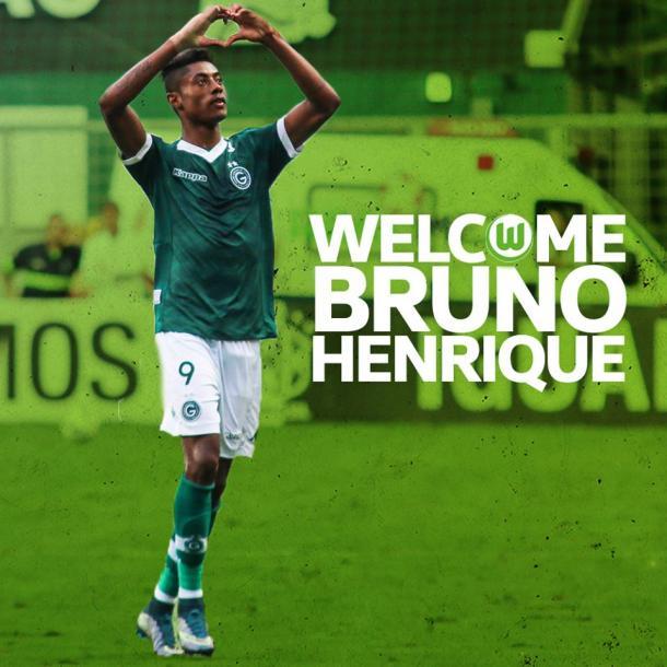 Esta fue la imagen de bienvenida para Bruno Henrique. // (Foto de vfl-wolfsburgo.de)