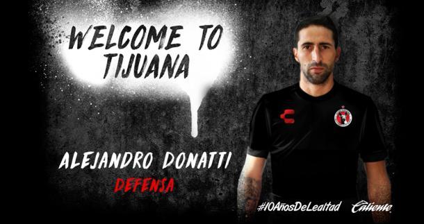 Xolos ficha al defensa Alejandro Donatti