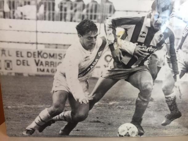 Juan Sabas y Tati Rayo Vallecano-Sporting Gijón. Fuente: Juan Sabas