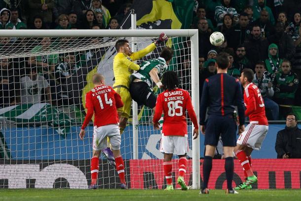 Ederson, Lindelof e Renato foram as figuras do Benfica // Foto: Facebook do SL Benfica