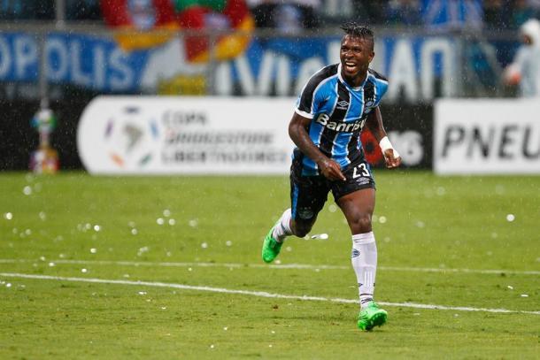 Miller tem dois gols em 11 jogos com a camisa gremista (Foto: Divulgação/Grêmio)