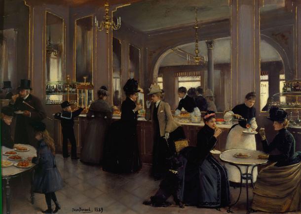 Café Gloppe (1889), de  Jean Béraud (Wikipedia, PD)