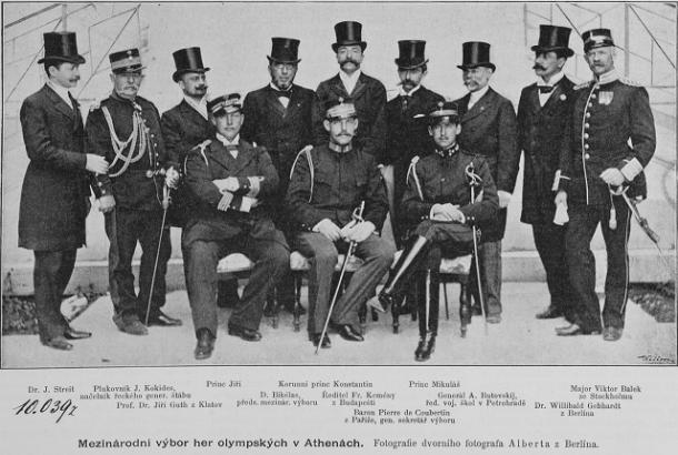Miembros del Comité organizador de los Primeros Juegos Olímpicos de la era moderna (1896). PD.