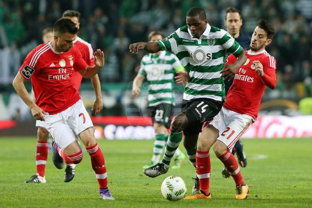 William Carvalho, o patrão do meio-campo // Foto: Facebook do Sporting CP
