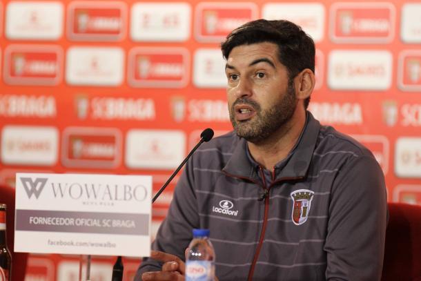 Sérgio Conceição não pretende facilitar na Luz // Foto: Facebook do SC Braga
