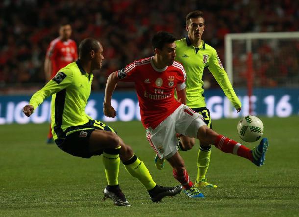 O Braga desde cedo procurou o golo // Foto: Facebook do SL Benfica