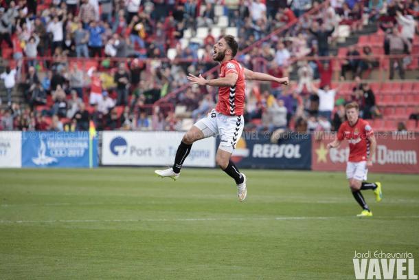 Palanca fue otro de los goleadores del partido | Foto: Jordi Echevarria | VAVEL.