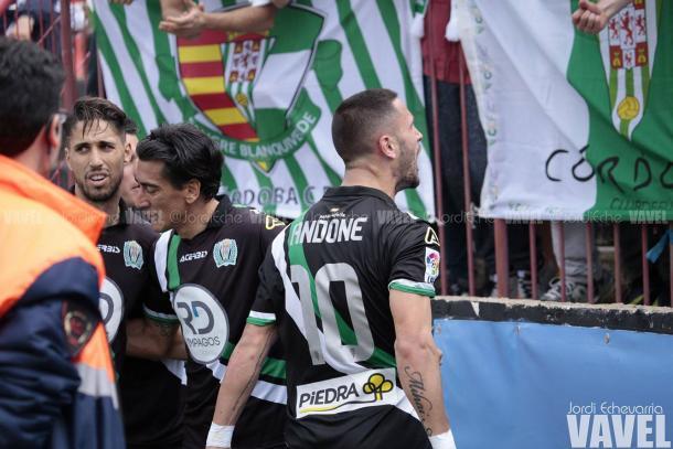 Fidel, de penalti, hizo el 0-1 | Foto: Jordi Echevarria | VAVEL.