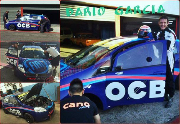 Dario Garcia probando en Buenos Aires el Fiat Punto del Cano Racing. Foto: Al Limite.