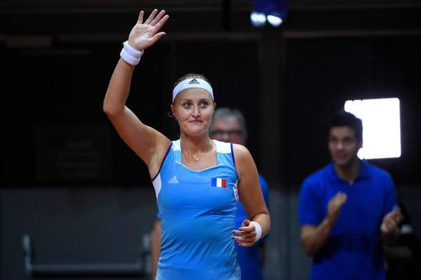Mladenovic gets the job done | Photo: Corinne Dubreuil/Fed Cup