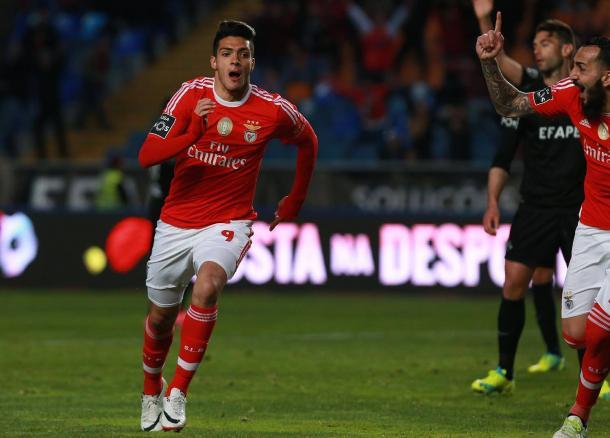 Jiménez fechou o marcador e deu a vitória às águias // Foto: Facebook do SL Benfica