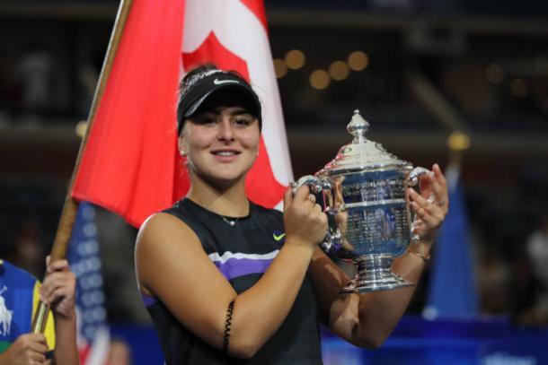 Andreescu, 2019 US Open women's singles winner. Photo: Elsa