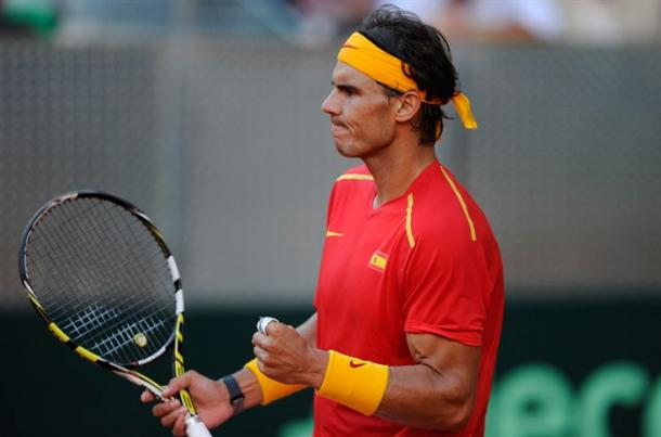 Rafael Nadal will make his return this weekend in the Davis Cup quarterfinals. Photo: Daniel Maurer/Davis Cup