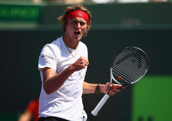 Alexander Zverev moved back into the top four by reaching the Miami final. Photo; Clive Brunskill/Getty Images