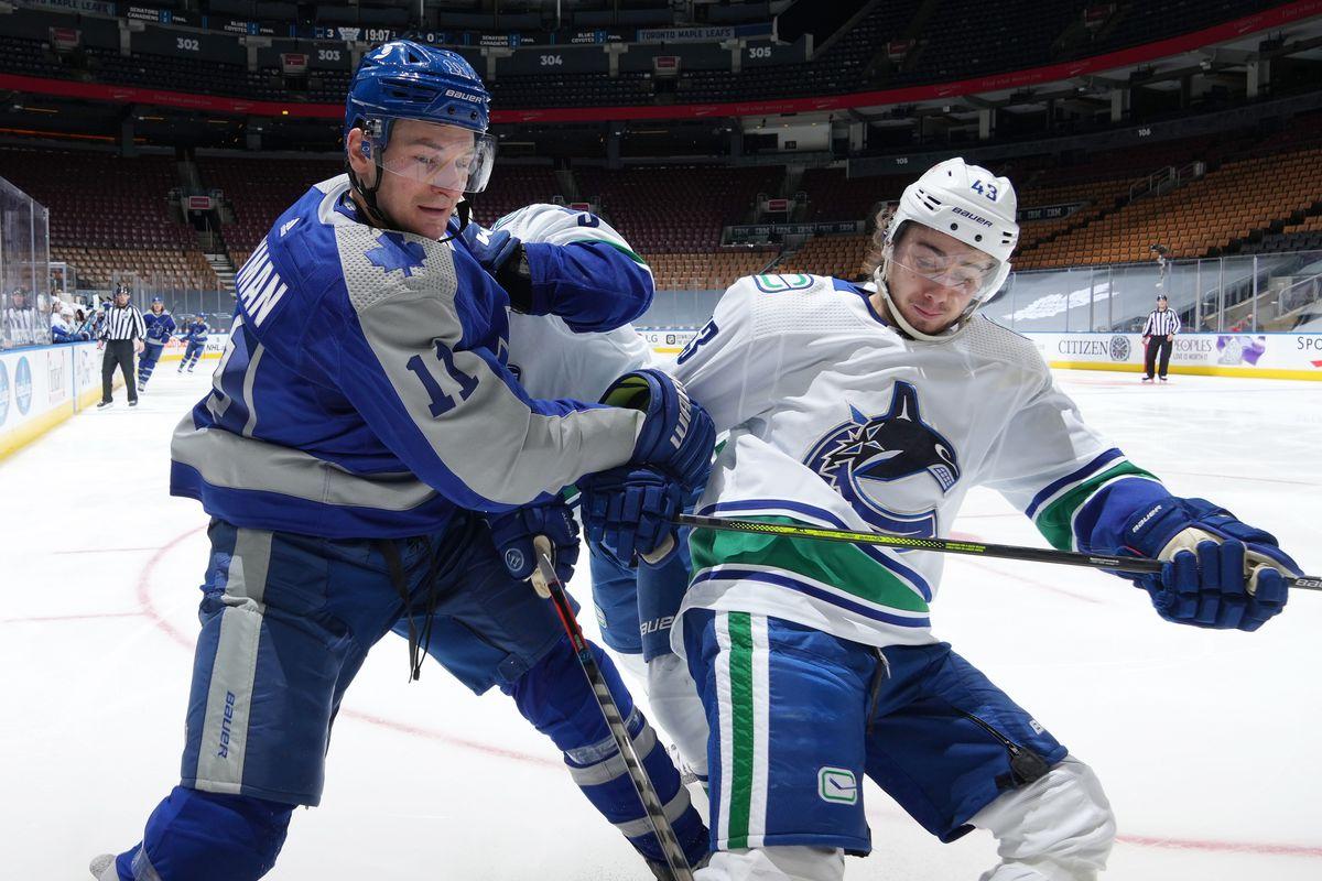 A Vancouver no le ha temblado el pulso frente al coco de la división. | Foto: Mark Blinch/NHLI via Getty Images
