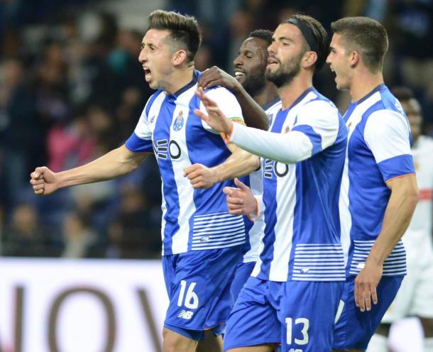 Herrera festejou o segundo golo com a equipa // Foto: Facebook do FC Porto
