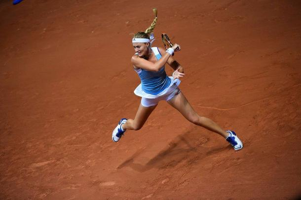 Mladenovic races to a commanding lead | Photo: Corinne Dubreuil/Fed Cup