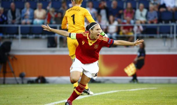 Verónica Boquete celebrando un gol con la Selección I Foto: 20minutos.es