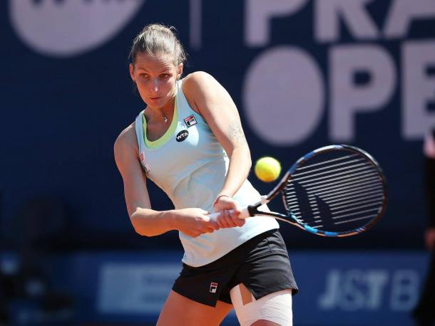 Pliskova off to a perfect start in the second set | Photo: Pavel Lebeda