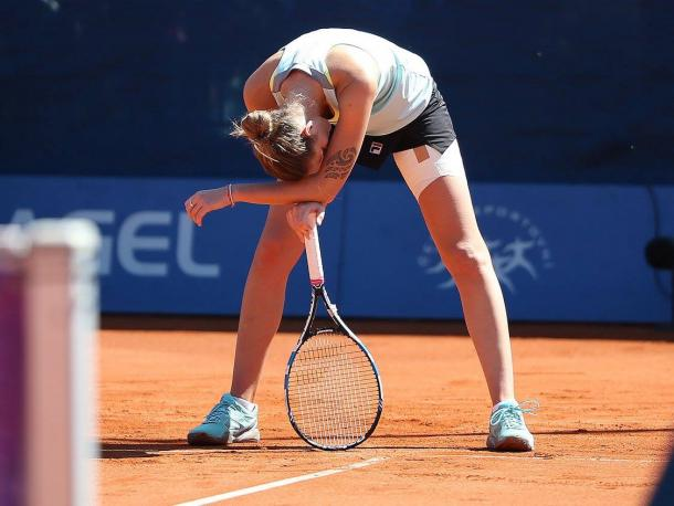 The defending champion let her lead slip away and was not able to play the way she wanted | Photo: Pavel Lebeda