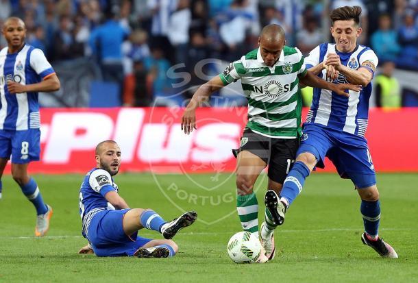 João Mário foi uma das pérolas técnicas do jogo // Foto: Facebook do Sporting CP