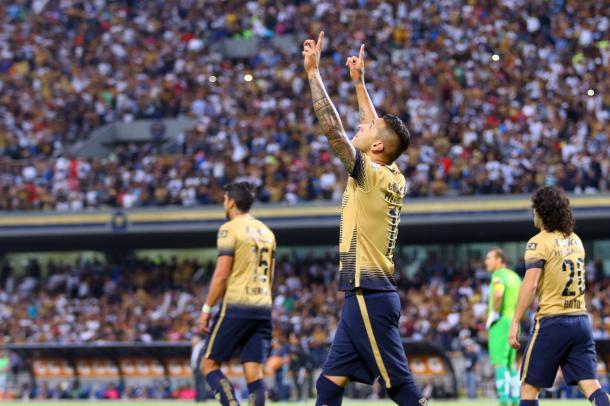 Sosa celebra su segundo gol del partido | Foto: Pumas