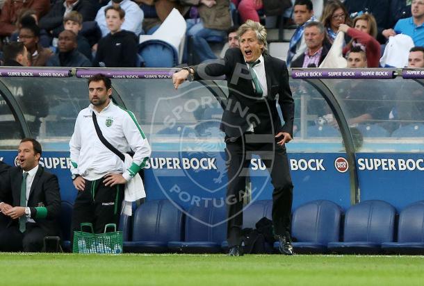 Jorge Jesus soube ser fiel ao estilo de jogo que incutiu nos verde e brancos // Foto: Facebook do Sporting CP
