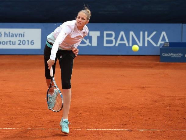 Pliskova sails through the first set | Photo: Pavel Lebeda