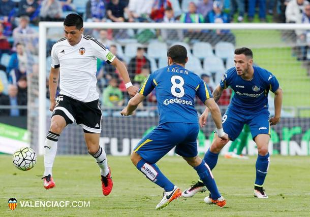 Valencia e Getafe ficaram no empate (Foto: Divulgação/Valencia CF)